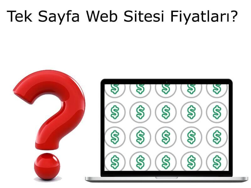 Tek Sayfa Web Sitesi Fiyatları