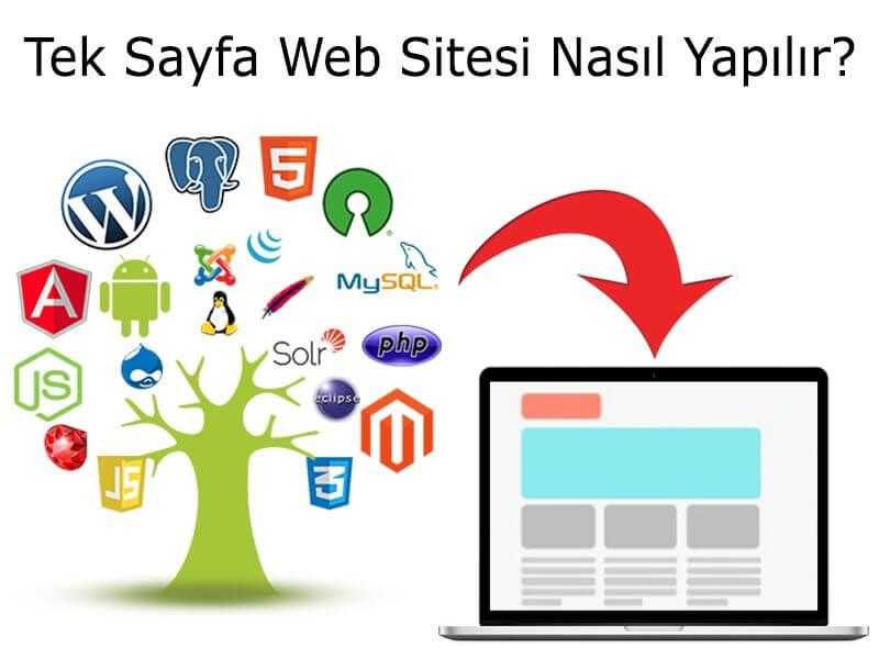 Tek Sayfa Web Sitesi Nasıl Yapılır?