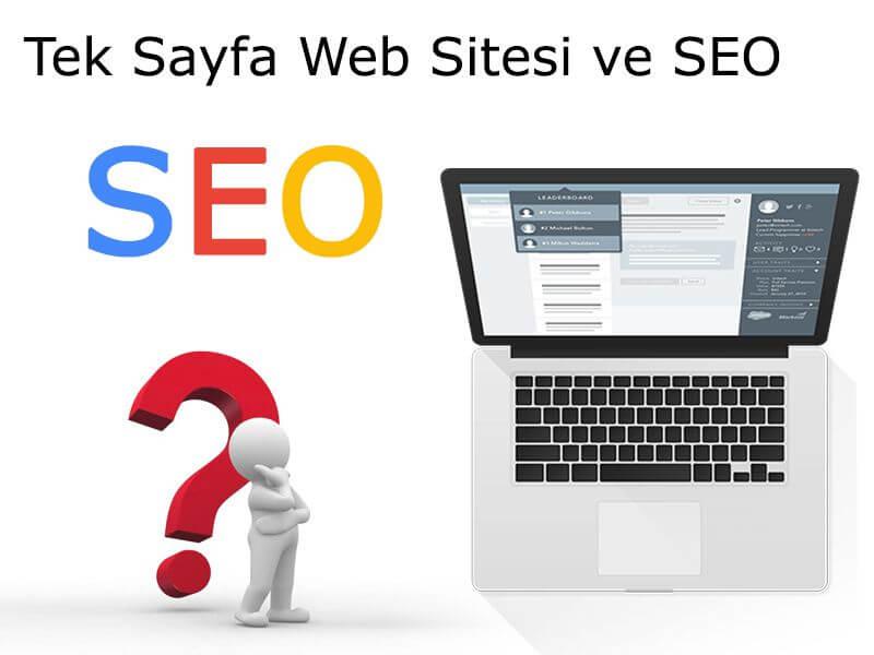 Tek Sayfa Web Sitesi ve SEO